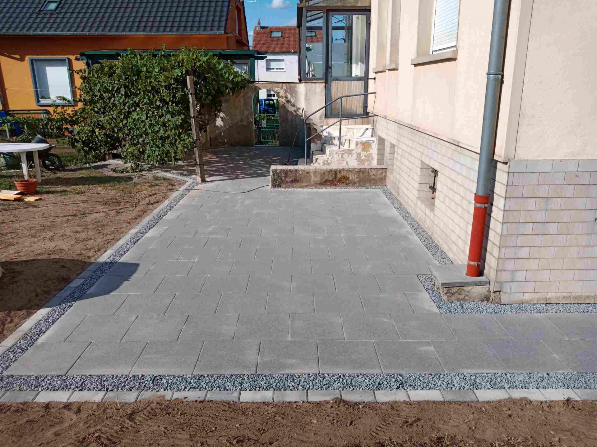 Chantier Creutzwald. Création terrasse.