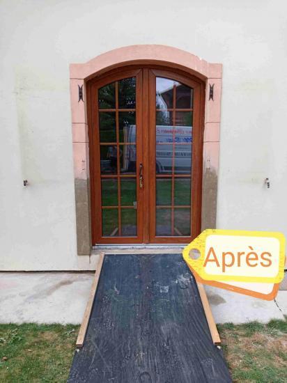 Chantier Bouzonville, ouverture fenêtre.